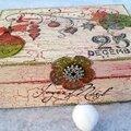 A Christmas box / Une <b>boite</b> de Noël décorée - DT Katzelkraft