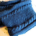 - tricot snood double - laine bergère de france -