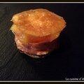 Mille feuille de foie gras et chutney de mangues