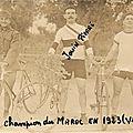 Les premiers champions du premier vélodrome du maroc