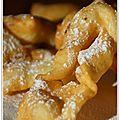 Pour mardi gras, les <b>oreillettes</b>, légères et moelleuses!
