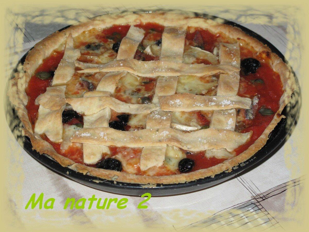 Crousti tarte aux tomates et aux anchois