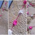 Guirlande origami rose et blanche