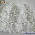 explications tricot bb, bonnet blanc, <b>layette</b> bebe mixte