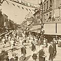 Cartes photos Défilé de gymnastes à <b>Belfort</b>, 1908 ou 1910 ?