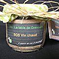 Cadeau gourmand : kit sos vin chaud