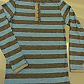 Tee-shirt ottobre : twist and shout et recouvreuse janome
