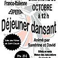 Repas dansant - octobre 2014