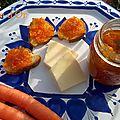 Confiture de carottes au gingembre