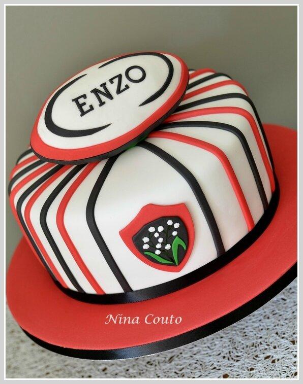gateau anniversaire enfant Nimes gateau rugby Nina couto1