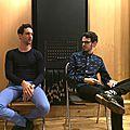 Les typ dans leur studio d'enregistrement à paris, où ils sont venus préparer leur prochain album
