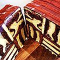 Cake op art, impression vasarely