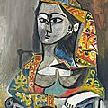 Powerful picasso portrait of his great love jacqueline roque to be offered at christie's