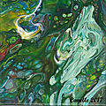 065 - Pouring painting acrylique