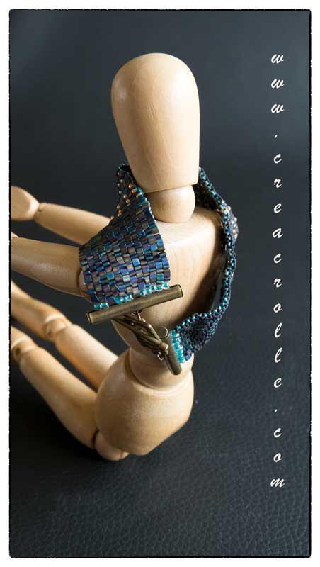 Bracelet en tissage peyote