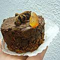 Entremet chocolat orange aux épices