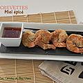 Crevettes japonaises au four et sauce au miel épicé, sans friture, sans gluten et sans lactose