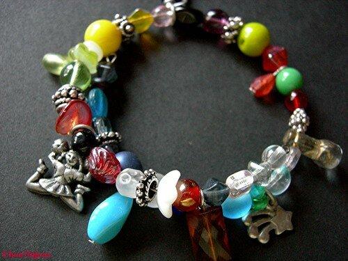 Bracelet spirale multicolore
