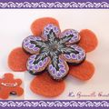 Broche Orange Flower