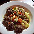 Poelée de légumes aux boulettes