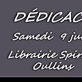 Dédicace à la librairie Spirale - 9 juin 2018