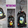 Porte Clefs - étiquettes Matriochkas