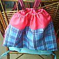 jupe recyclé en sac de piscine