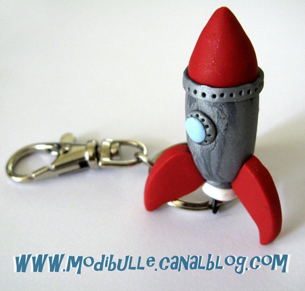 porte clef de l'espace-fusée 4