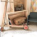 Trottinette enfant en bois