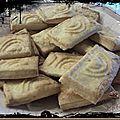 Sablés au parmesan en reliefs