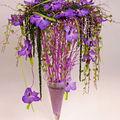 Orchidées vanda dans une flûte en verre