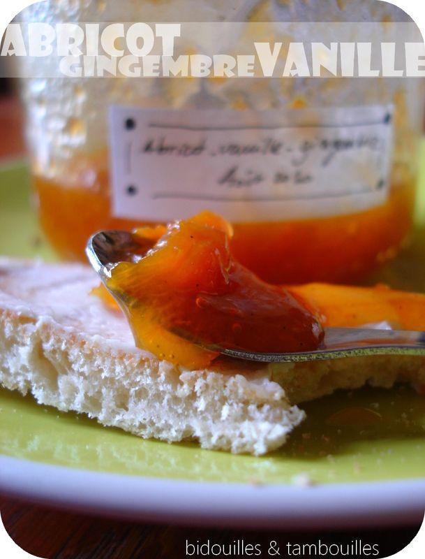 confiture abricot gingembre