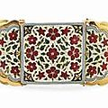 A Fine Enamelled Gold Armband<b>bazuband</b>.North India, 19th Century And Later