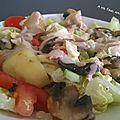 Salade pomme de terre champignons