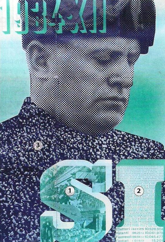affiche culte personnalité Mussolini