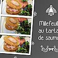 Millefeuilles au tartare de saumon