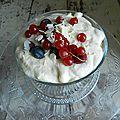 Trifle aux fruits rouges
