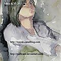 Watercolor session - portrait 2
