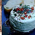 Idée recette : Fromage de <b>chèvre</b> frais à l'huile de romarin