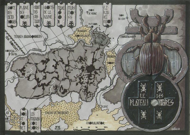 Carte du sous-sol du Plateau des Ombres