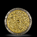 A rare <b>gold</b> <b>overlay</b> <b>silvered</b> <b>bronze</b> mirror, 9th-13th century