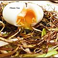 Nid de poireaux en deux façons et son œuf <b>mollet</b>