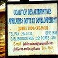 Coalition des alternatives africaines dette et développement