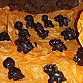 Délices au chocolat noir et lait d'amandes