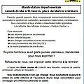 Manifestation contre la reforme des rythmes scolaires à orleans