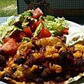 Burrito de salade au boeuf