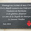 Renaissance de la Chapelle des Martyrs de Saint-Laurent-des-<b>Autels</b>