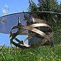 table basse <b>design</b>, intérieur et extérieur, pied métallique plateaux verre trempé