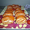 Roulé à la tomate fromage ail et fines herbes