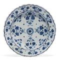 An <b>Iznik</b> pottery dish. Ottoman, Turkey, third quarter 16th century